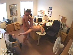 slut secretary caught fucking on the desk