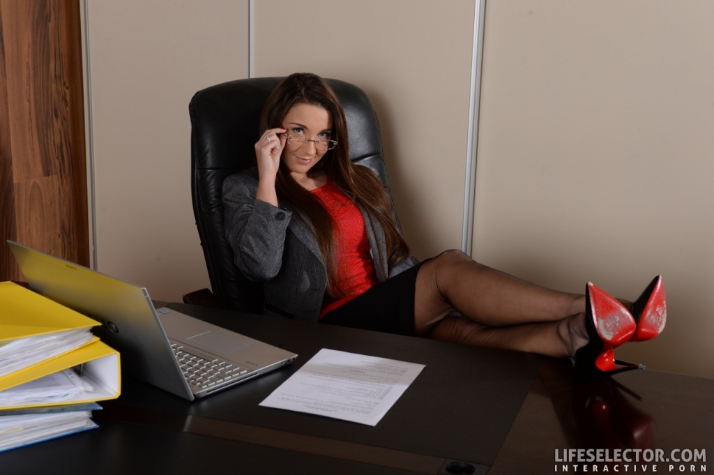 image Office lady strapon fucked by a call girl